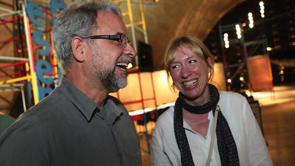 Sarah Cox and César Coelho at the Memorial of Latin America in Sao Paulo at Anima Mundi  July 2012